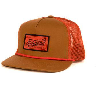 Fishpond Heritage Trucker Hat Sandbar Orange Image 1