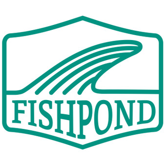 Fishpond Salty Fin Thermal Die Cut Sticker Aqua Image 1