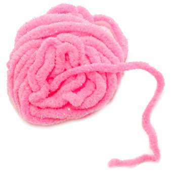 Hareline Uv Galaxy Mop Chenille Flourescent Pink Image 1