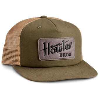 Howler Brothers Electric Stencil Structured Snapback Cap Electric Stencil Fatigue Old Gold Image 1