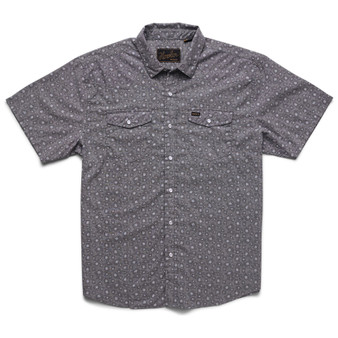Howler Brothers H Bar B Snapshirt SS Shirt Little Agave Night Blue Oxford Image 1