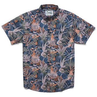 Howler Brothers Mansfield SS Shirt Glades Print Midnight Blue Image 1