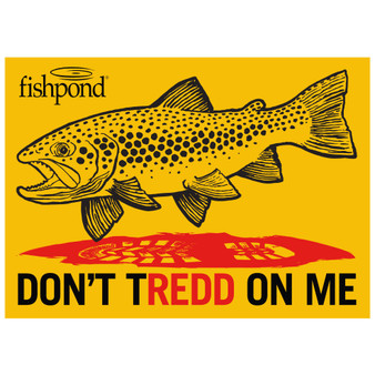Fishpond Don T Tredd Sticker Image 1