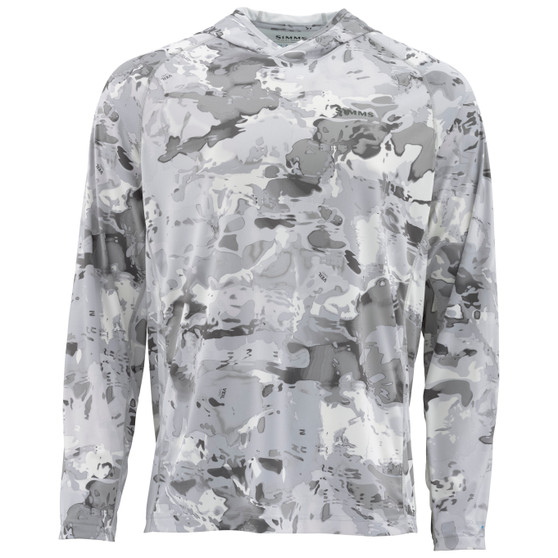 Simms Solarflex Hoody Prints Cloud Camo Grey Image 1