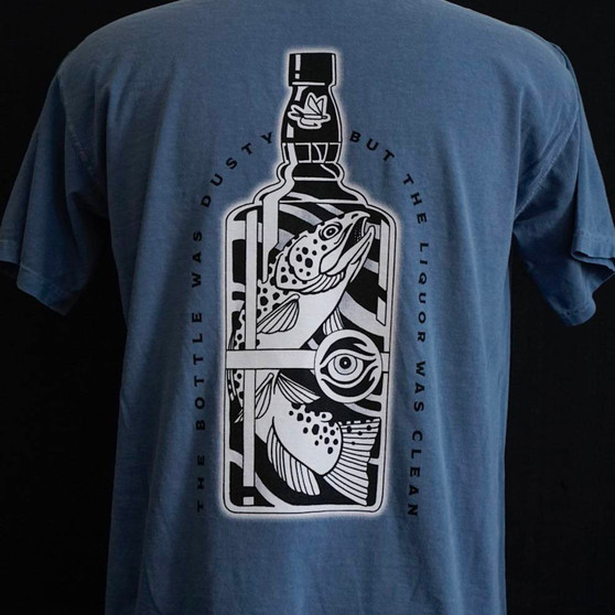 Crooked Creek Holler Brown Eyed Trout SS T Shirt Denim Image 1