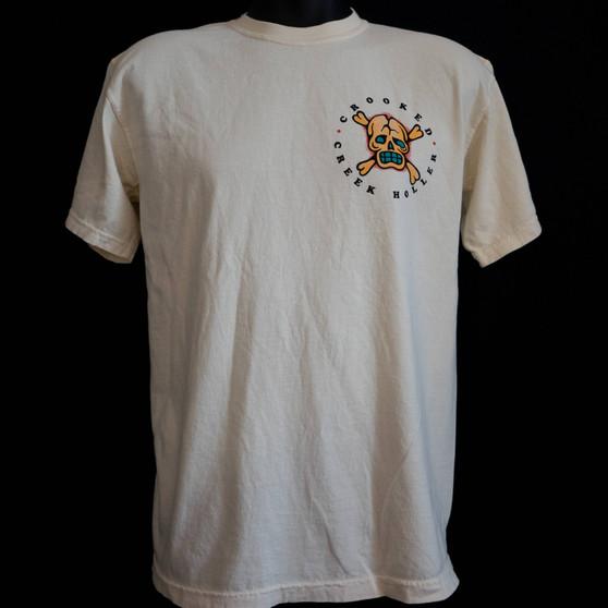 Crooked Creek Holler Hula SS T Shirt Heavy Cream Image 1