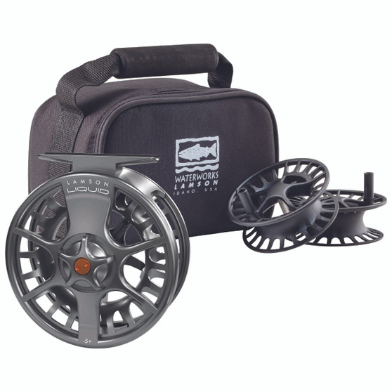 Waterworks Lamson Liquid Reel 3 Pack Smoke Image 1