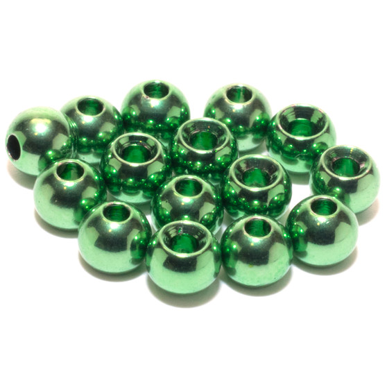Flymen Nymph Head Flycolor Brass Beads Baetis Green Olive Image 1