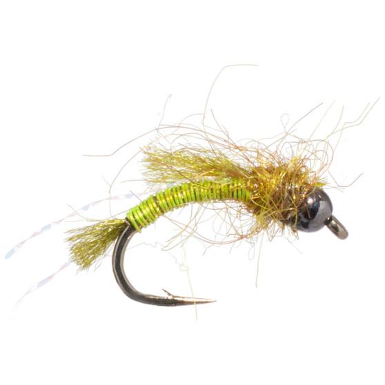 Solitude Fly Bead Head Deep Six Caddis Pupa Chartreuse Image 1