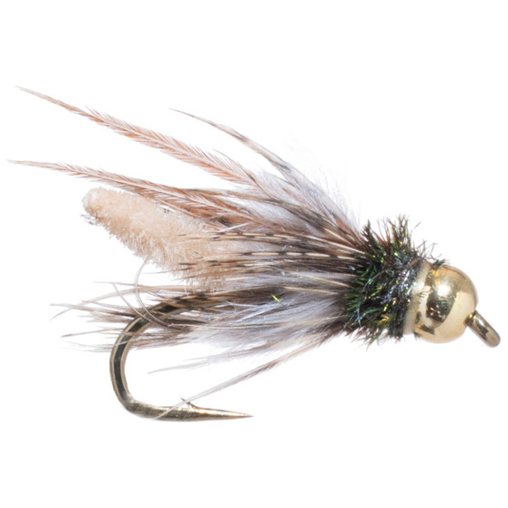 Solitude Fly Bead Head Extended Body Caddis Pupa Tan Image 1