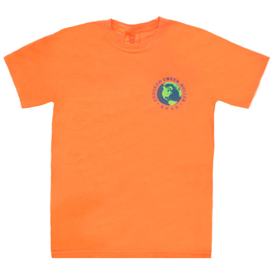 Crooked Creek Holler Vote The Earth SS T Shirt Faded Orange Image 1