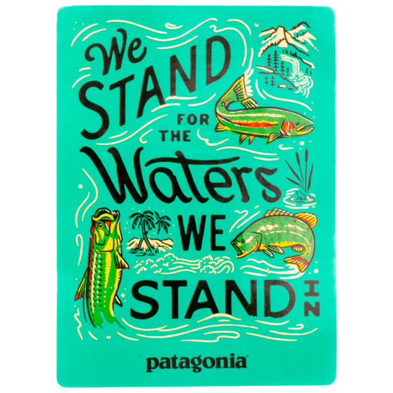 Patagonia We Stand For The Waters We Stand In Sticker Image 1
