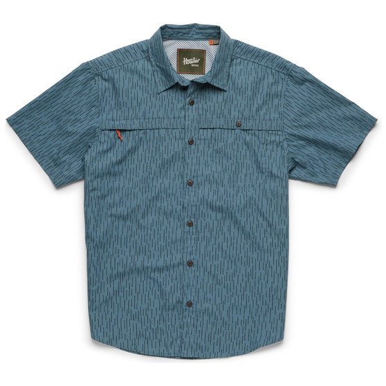 Howler Brothers Tidepool Tech SS Shirt Deluge Camo Pacific Blue Image 1