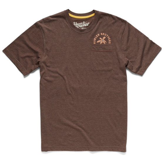 Howler Brothers Lazy Gators Select Pocket SS T Shirt Lazy Gators Espresso Image 1