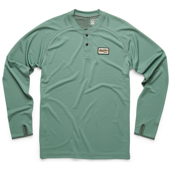 Howler Brothers Loggerhead Henley Faded Olive Image 1
