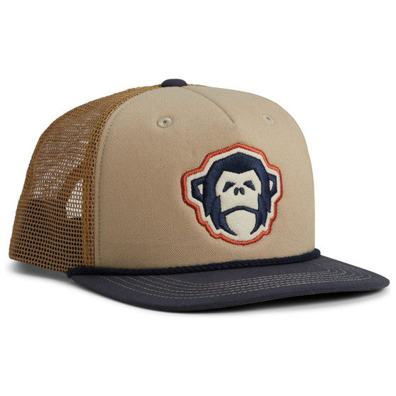 Howler Brothers El Mono Structured Snapback Cap Stone Gold Navy Image 1