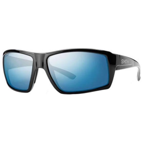 Smith Optics Challis Matte Black Glass Chromapop Polarized Blue Mirror Image 1