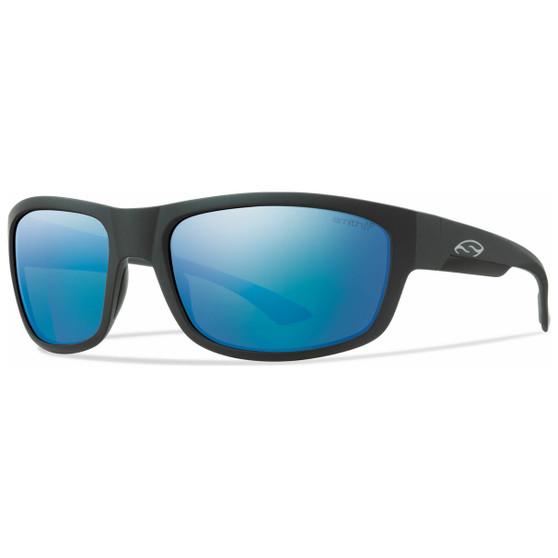 Smith Optics Dover Matte Black Polar Blue Mirror Image 1