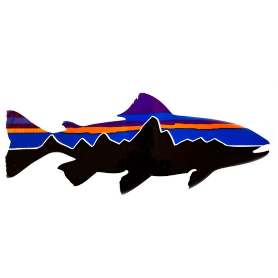 Patagonia Fitz Roy Trout Sticker Image 1