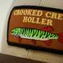 Crooked Creek Holler Musky Trucker Cap Cream Chocolate Olive Mesh Image 2