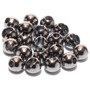 Hareline Slotted Tungsten Beads Black Image 1