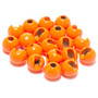 Hareline Slotted Tungsten Beads Fluorescent Orange Image 1