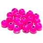 Hareline Slotted Tungsten Beads Fluorescent Pink Image 1