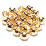 Hareline Slotted Tungsten Beads Gold Image 1