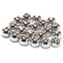 Hareline Slotted Tungsten Beads Silver Image 1