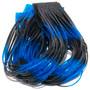 Hareline Fly Enhancer Legs Blue Black Image 1