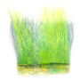 Hareline Ice Dub Minnow Back Shimmer Fringe Chartreuse Peacock Back Image 1