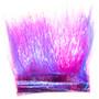 Hareline Ice Dub Minnow Back Shimmer Fringe Hot Pink Purple Back Image 1
