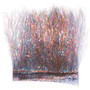 Hareline Ice Dub Minnow Back Shimmer Fringe Pearl Gray Bronze Back Image 1
