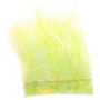 Hareline Ice Dub Minnow Back Shimmer Fringe Yellow Pearl Chartreuse Back Image 1