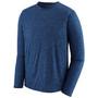 Patagonia Cap Cool Daily LS Shirt Viking Blue Navy Blue X Dye Image 2