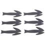 Flymen Fishing Fish Skull Frantic Tails Black Image 1