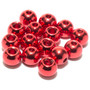 Flymen Nymph Head Flycolor Brass Beads Bloodworm Red Image 1