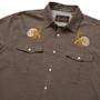 Howler Brothers Gaucho Snapshirt LS Shirt Brown Oxford Hermit Crabs Image 4
