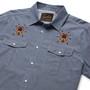 Howler Brothers Gaucho Snapshirt LS Shirt Indigo Oxford Tarantulas Image 2