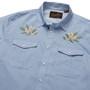 Howler Brothers Gaucho Snapshirt LS Shirt Pale Blue Oxford Orange Blossom Image 4