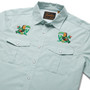 Howler Brothers Gaucho Snapshirt LS Shirt Seafoam Microstripe Two Cans Image 3