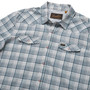 Howler Brothers H Bar B Tech LS Shirt Bolan Plaid Geologic Grey Image 3
