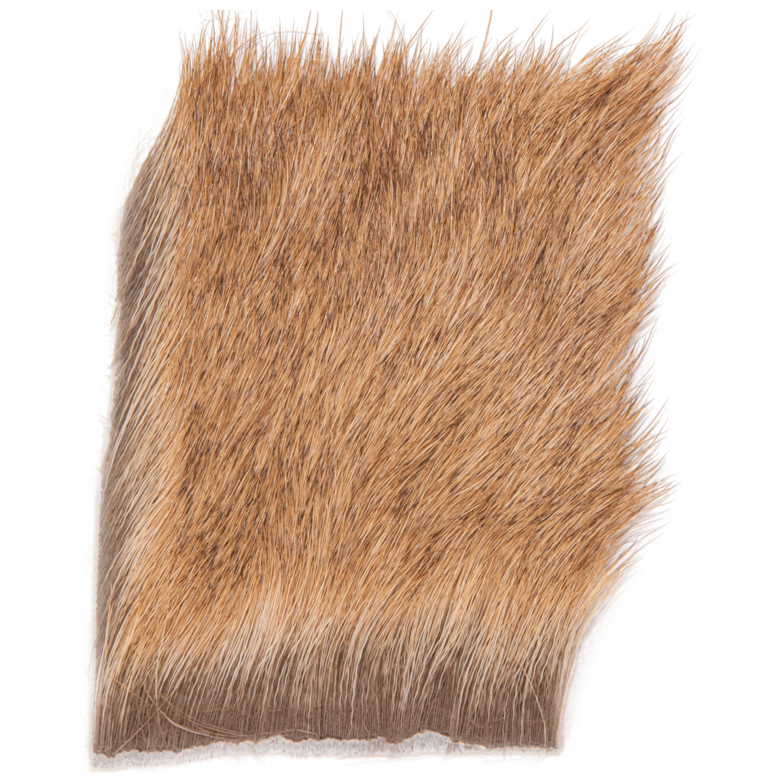 Elk Body Hair Natural Medium Cascade USA Wapiti-Hirsch Fellstück Natural Medium