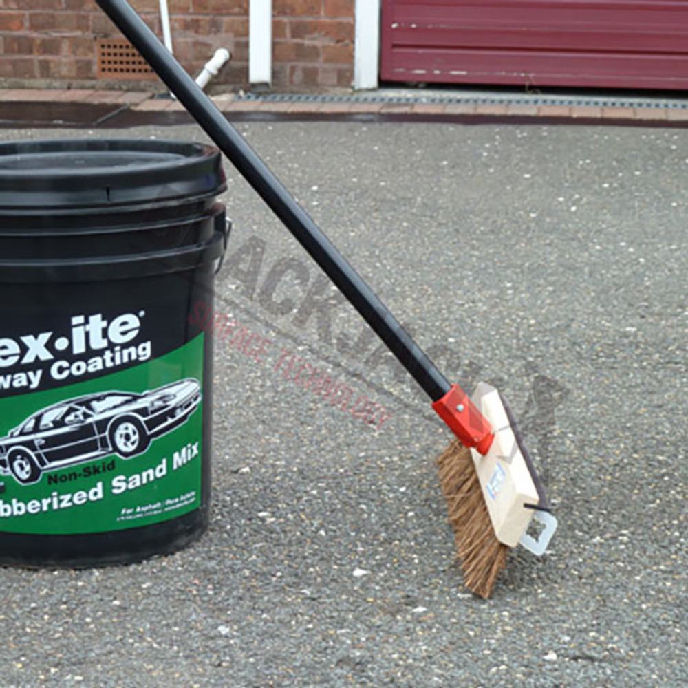 Driveway Brush with Rough Surface Applicator Squeegee