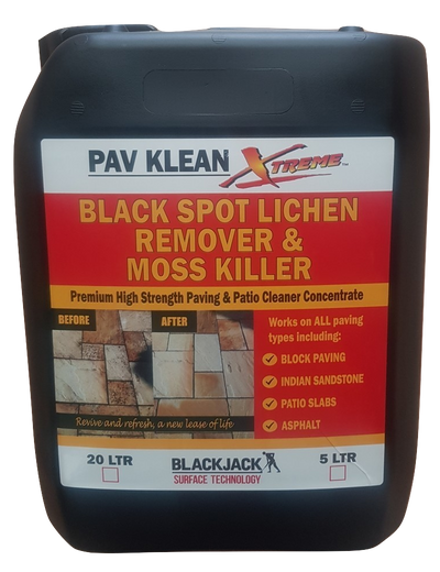 Pav Klean Xtreme - Floral Scented Patio Cleaner - Black Spot Lichen Remover 5 or 20 Litres, Driveway Patio Cleaner
