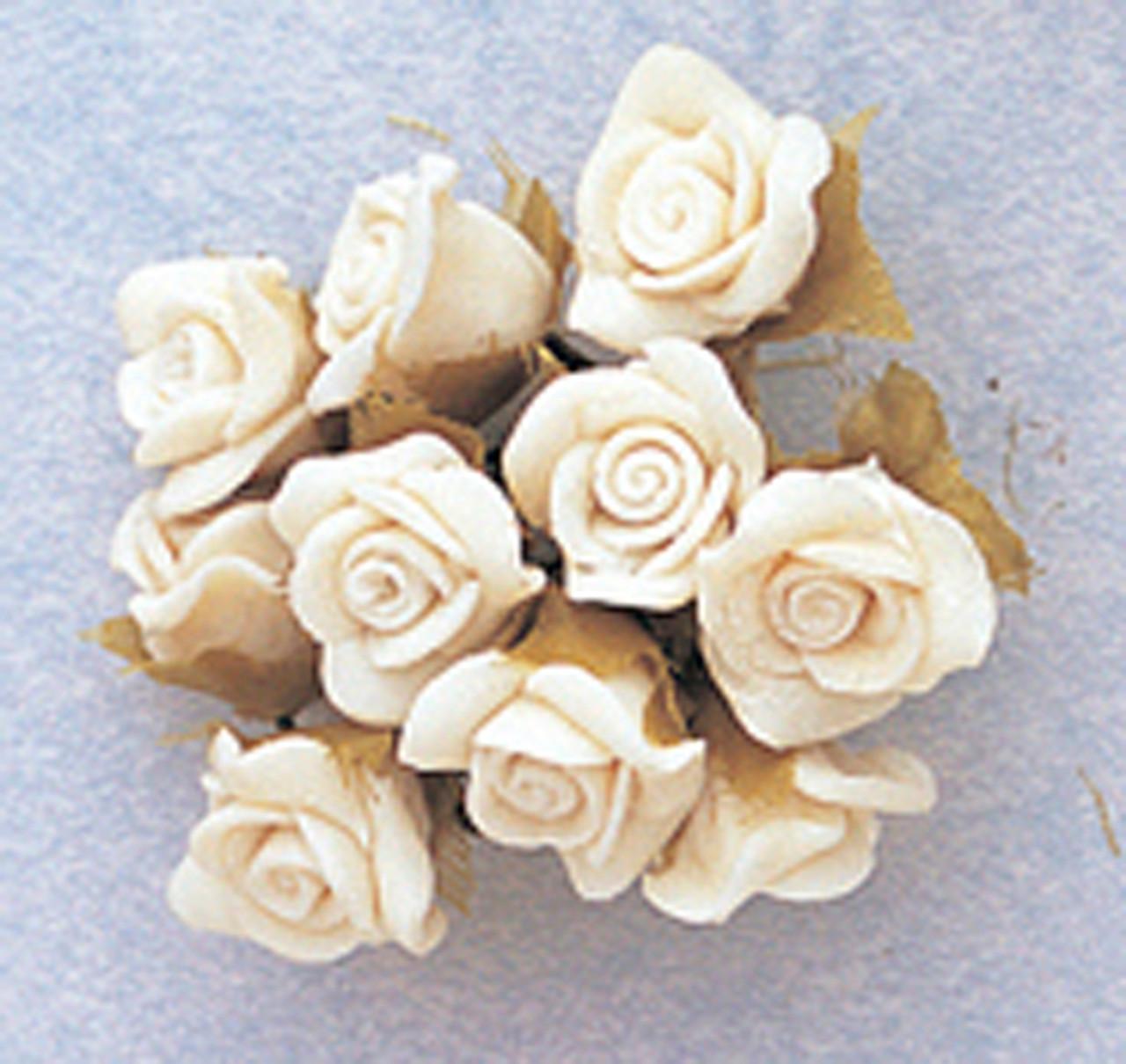 stem flower flower supply flower with wire handmade flower porcelain flower clay flower 5 SPRING FLOWER pastel flower cold porcelain