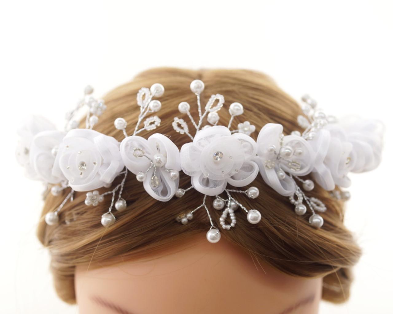 77ae5a3dd First Communion Flower Crown Headpiece (CHP430) - CB Flowers & Crafts