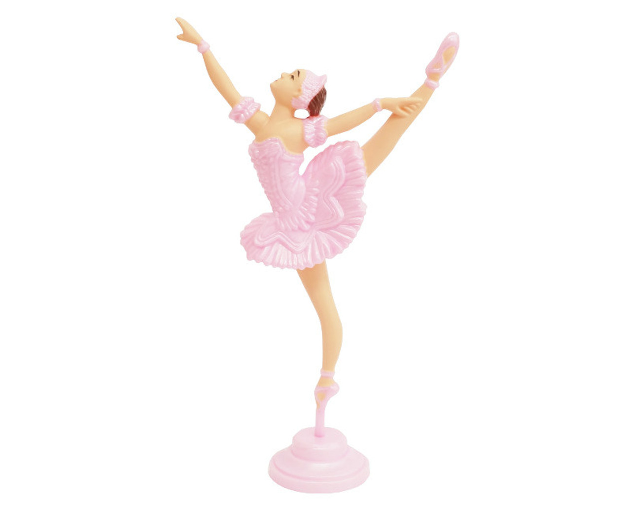 pink dancing ballerina cake topper pack of 10 cb flowers \u0026 crafts