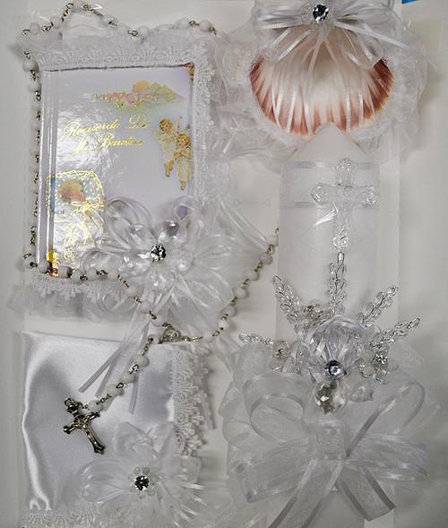 Baptism Candle Gift Set - 5 Piece Gift Set Style 1