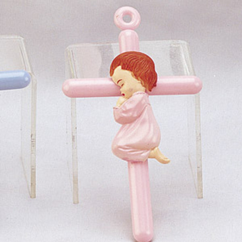 """6 1/4"""" Praying Girl Cross Charm - Pack of 120 Count"""